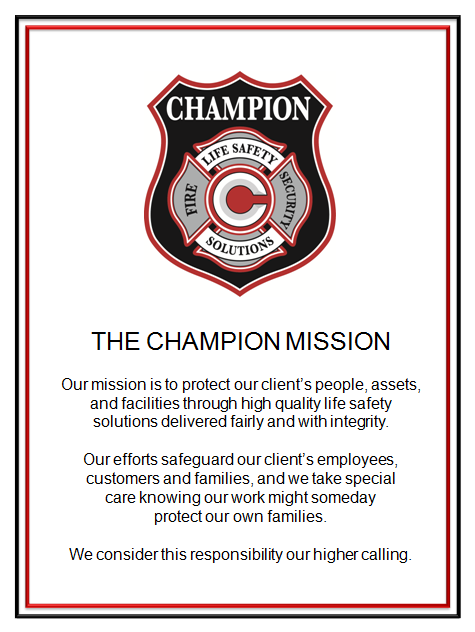 Champion Fire & Security Mission